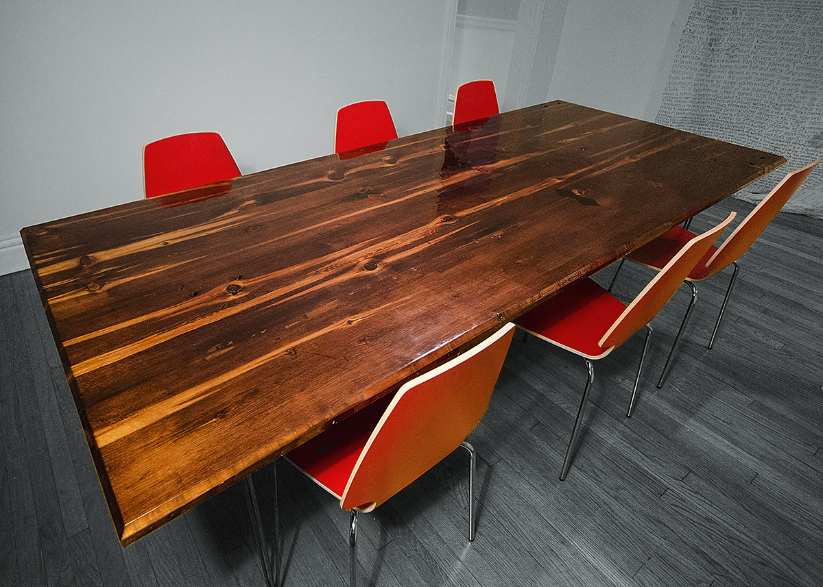 Old Wood Dining Room Table