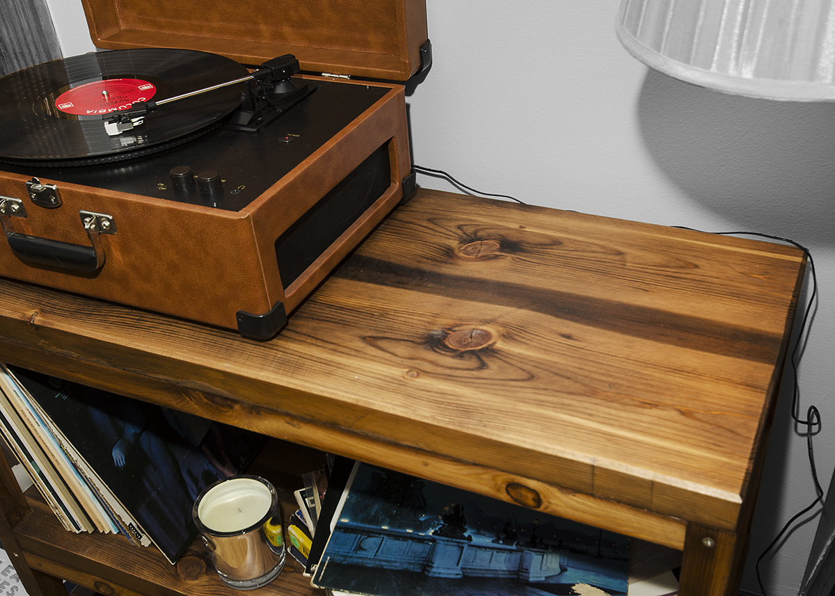 Record Player Stand Rh Timber
