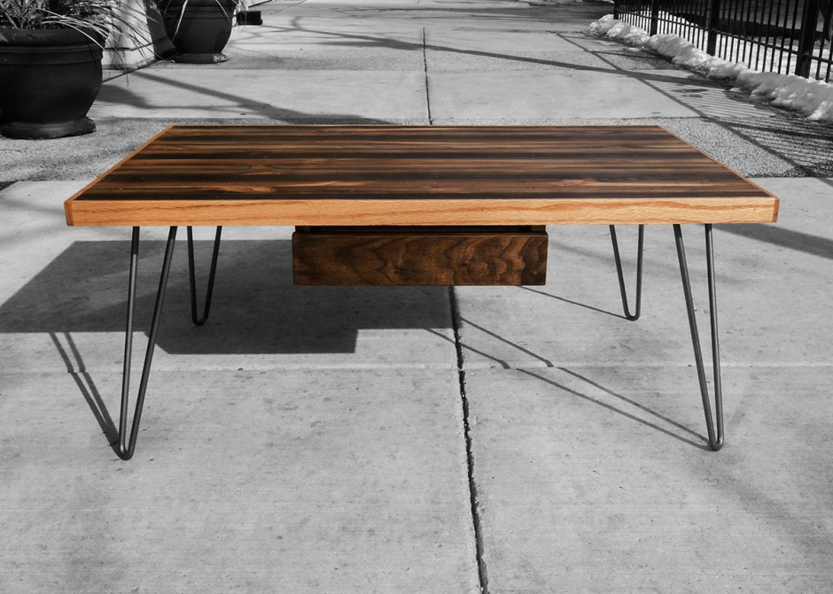 Striped Coffee Table Side