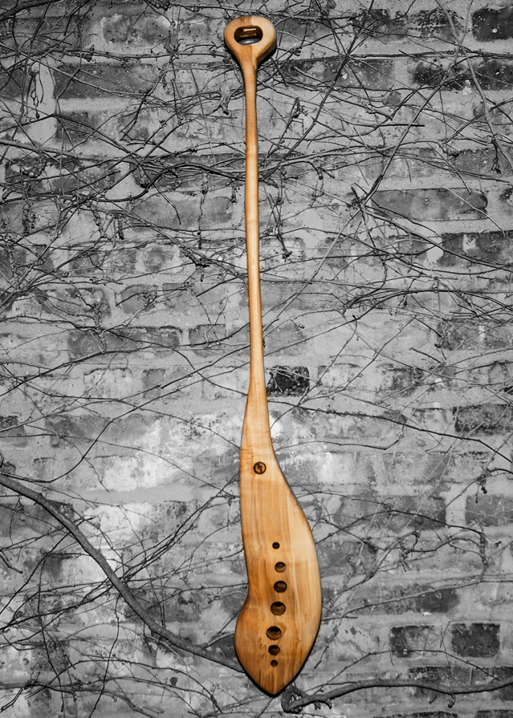 This is a mash paddle, for beer brewing. I shaped it from a slab of local Chicago Hard Maple. I purchased the wood from Horigan Urban Forest Products,