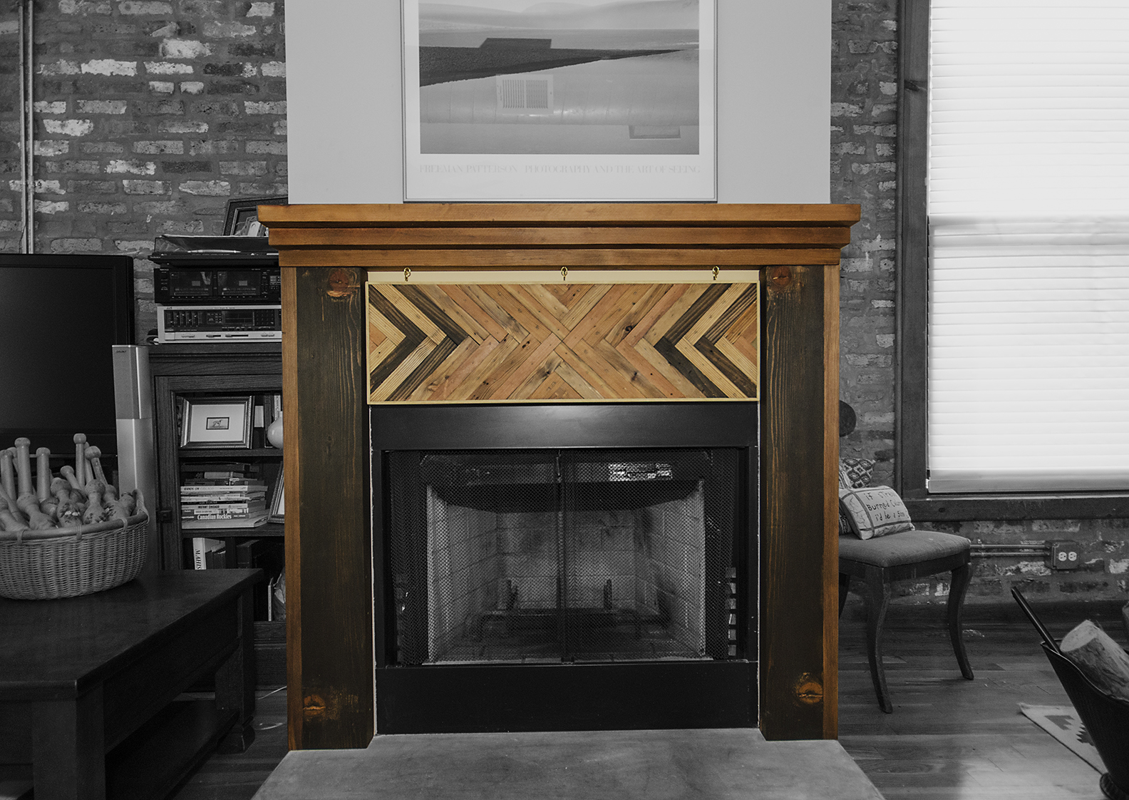 Full Salvaged Mantle | RH Timber