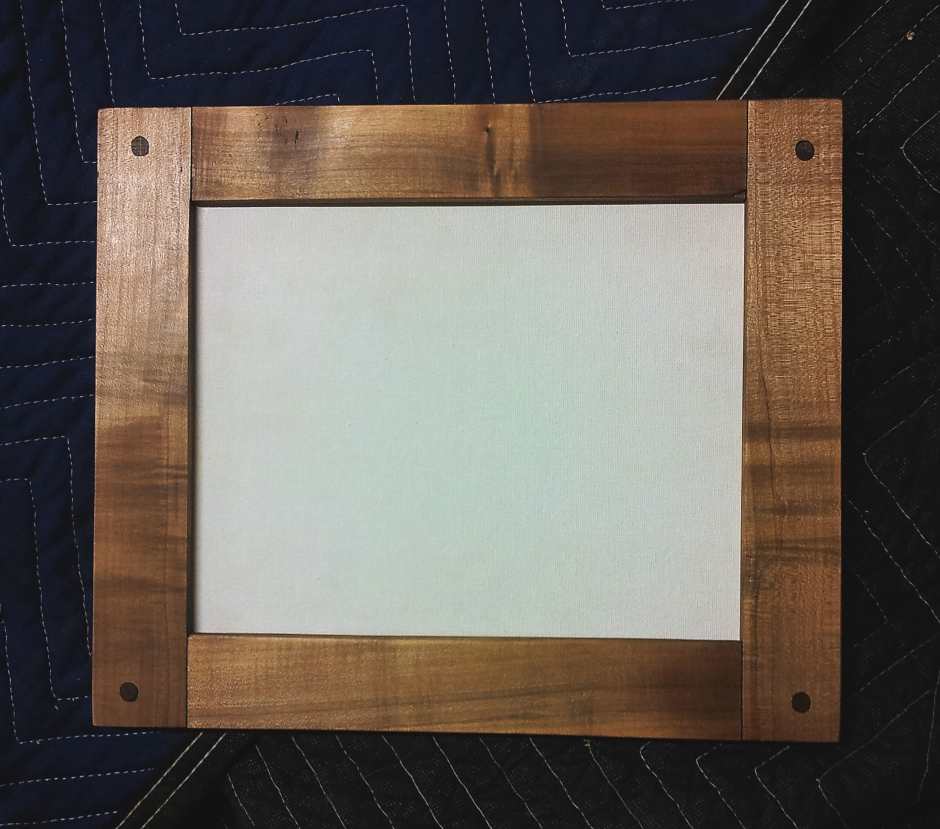 Ebonized maple, mortised picture frame.
