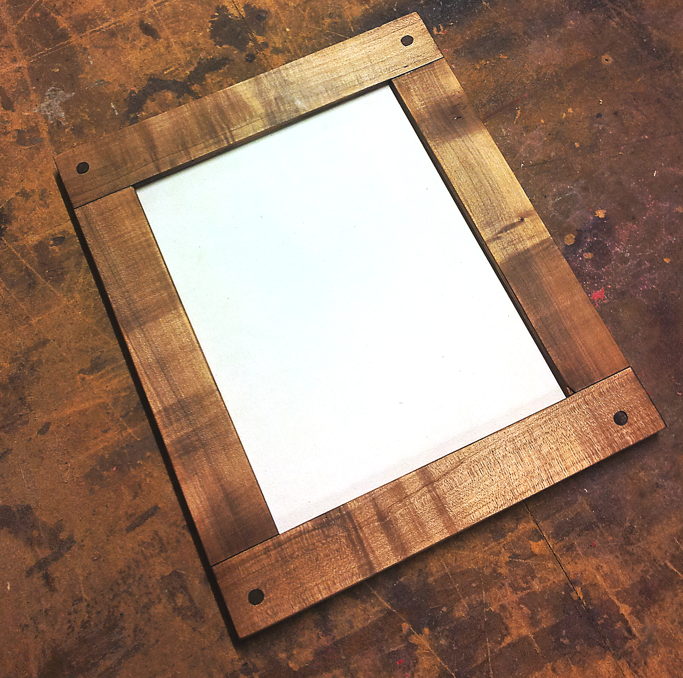 Mortise tenon picture frame rh timber ebonized maple mortised picture frame jeuxipadfo Image collections